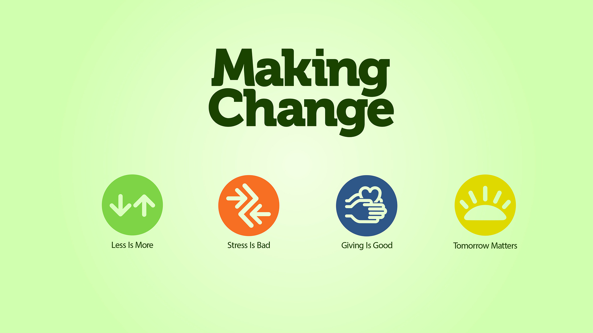 Making Change pt 1: Less is More