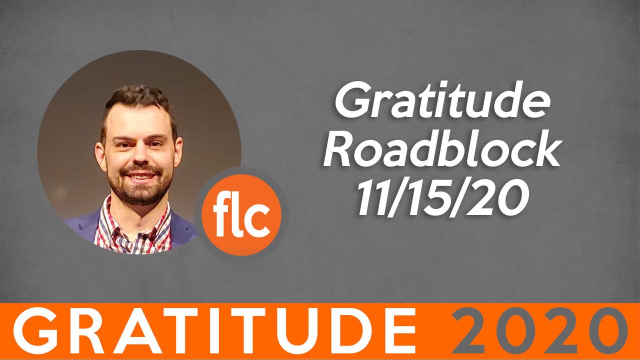 Gratitude Roadblocks